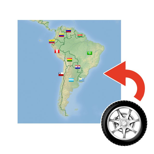 Reifen Export Süd Amerika